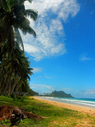 Una delle meravigliose spiagge di El Nido, Palawan, Filippine